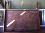 pencil drawer for 1940s office desk, damaged