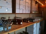 Some of the Blue Spirits offerings ready for the following day's Seattle tasting.