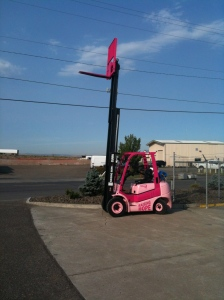 propane forklift for sale in Pasco, WA - supporting a great cause as well as heavy loads.