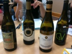Tasting Washington Viognier wines.