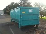 Large dumpster for our grape debris.
