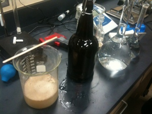 Goferm, yeast nutrient, and yeast hydrating so we can add them to the carboy of juice.