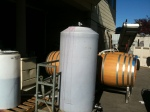 Merlot in the tank ready to rack into barrels, how did I walk by this?