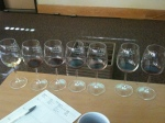 Seven wines have been poured for each of our test flights; each is a one ounce pour.