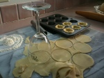convenient cookie cutter to make mini pumpkin pie tarts.