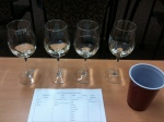 The glass on the right is our Viognier.