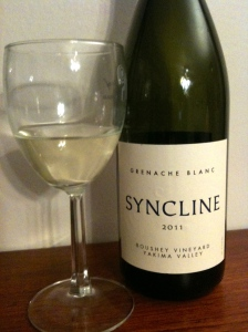 Boushey Vineyard 2011 Grenache Blanc from Syncline Wine Cellars