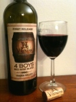 J&J Vintners 4 Boys Bordeaux red blend.