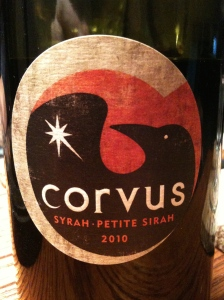 Corvus Cellars 2010 Syrah-Petite Sirah