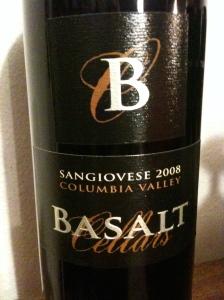 Basalt Cellars 2008 Sangiovese
