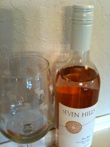 Salmon color and complex flavors; delectable rose' from Seven Hills Winery.