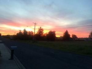 Sunset in southern Walla Walla.