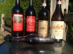 Italian and Washington Nebbiolo's: 2004-2012  What a line-up!