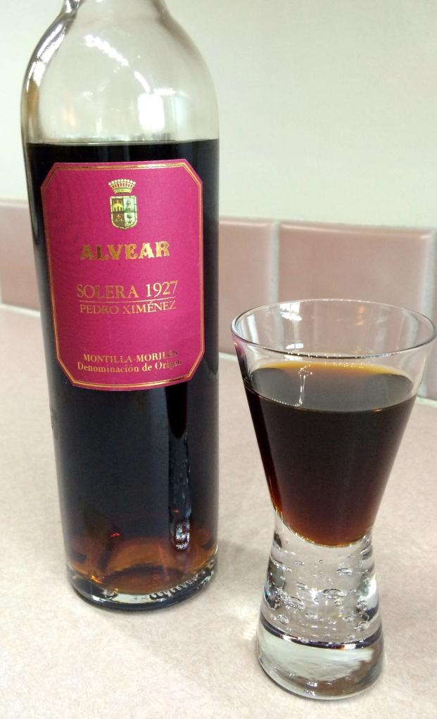 Alvear Solera 1927 Pedro Ximenez, Montilla-Moriles DO, a Sherry.