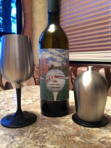 Stainless steel, convertible wine glasses for our home away from home.