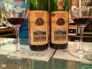 Orchard Heights Winery 2007 & 2008 Pinot Noir.