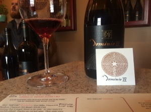 Dominio IV Pinot Noir, love the maze on the business card and lower part of the label.