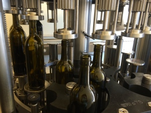 Automation is fantastic - bottles are filled to the precise level as they progress along the bottling line.
