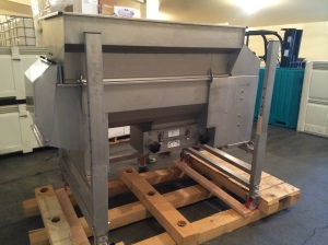 New crusher/destemmer for Locati Cellars arrived in time for harvest.