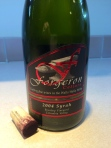 Ten year old Syrah from Forgeron Cellars - the best reward at the end of the day!