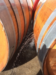 Sometimes barrels dry out while they sit empty; using water to rehydrate them is more efficient than losing wine for that purpose.
