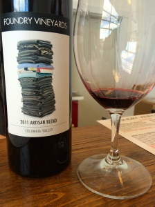 The new wine for Fall Release 2014 - 2011 Artisan Blend.  Artisan Blend is the flagship wine of Foundry Vineyards.