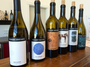 Foundry Vineyard offerings Fall Release Weekend 2014.