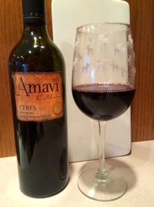 All shades of ruby appear in this 2012 Amavi Cellars Tempranillo, Ceres.