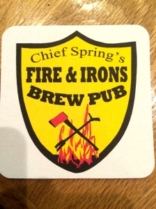 Chief Spring's Fire & Irons Brew Pub in Dayton, Washington, a great stop for lunch and some good beer.