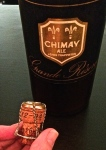 Chimay Grande Reserve bottled 12/1994 - yes, a 20 year old Belgian beer wrapped up our evening.