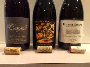 L to R: Crayelle 2010 Washington, Ken Wright 2011 Oregon, 2012 Rodney Strong California