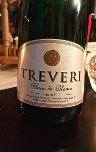 Treveri Cellars, Blanc de Blanc, brut from Washington State's Yakima Valley.