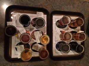 Snipes Mountain Brewery flight for January, plus the 'guest tap' Angry Orchard = 13!