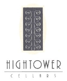Hightower Cellars logo & label, this image is also on their tasting room front door - thanks to Mike L's Guide for the image.