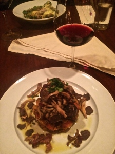 La Rambla in McMinnville, OR: Lamb Loin Chop paired with Adelsheim 2012 Willamette Valley PN.