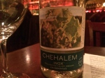 La Rambla in McMinnville, OR: Chehalem 2012 INOX Chardonnay, without the Almond Crusted Scallops to pair, but great!