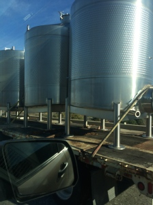 Outside tanks give you an idea of the production volume of Full Sail Brewing.