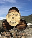 You know you have found it when you can see the sign: Cox Canyon Vineyard.
