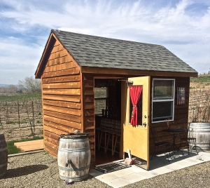 At 998 square feet Thrall & Dodge Winery are in the running for smallest wine tasting facility.
