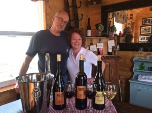 Troy and Kim Goodreau, owners of Thrall & Dodge Winery in Ellensburg, WA.