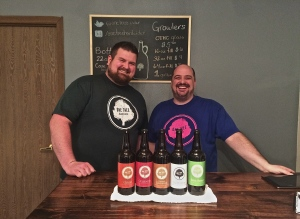 Grant (left) and Neal, partners in One Tree Hard Cider out of Spokane, WA.