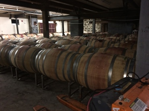 The barrel room in the cellar of the Market Place Wine Bar in Spokane, WA.