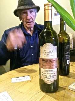 Overbluff Cellars 2010 Barrel 21 Cabernet Sauvignon numbered and signed by wine maker Jerry Gibson.