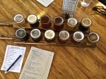 All twelve available brews on offer at Paradise Creek Brewery in Pullman, Washington.