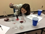 Blending trial for 2013 College Cellars Merlot.