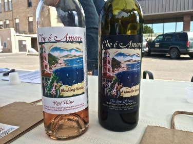 Che e' Amore (pronounced K Amor) shares their non-vintage red and rose' wines every Saturday morning at the Downtown Farmers Market.
