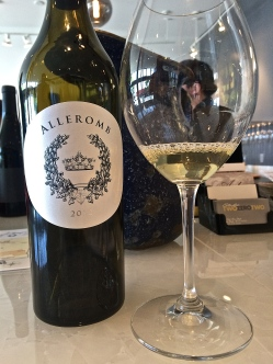 Alleromb 2012 Sauvignon Blanc from the Scarline Vineyard on the Royal Slope, Columbia Valley AVA.
