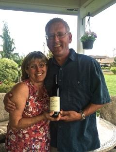 Dawn & Gary Brumfield, owner and winemaking team of Mustard Seed Cellars.