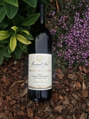 2013 Mustard Seed Cellars Cabernet Sauvignon, first bottling.