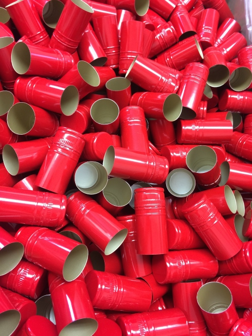 Stelvin caps for our Scholarship Red bottles.